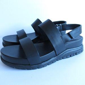 Cole Haan Zerogrand Leather Platform Sandals New